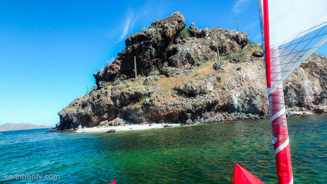 Bahia Concepcion, while sailing the Hobie to a small island